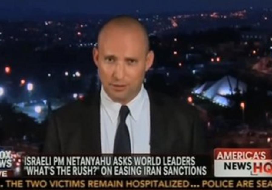 Naftali Bennett in an interview with Fox News, November 10, 2013.