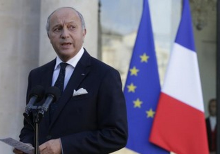 French FM Laurent Fabius.