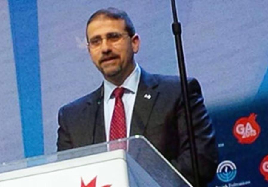Ambassador Dan Shapiro at the GA in Jerusalem, Nov. 11, 2013.