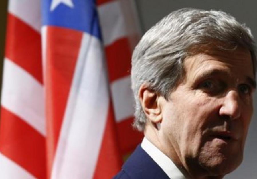 US Secretary of State John Kerry in Geneva November 10, 2013.