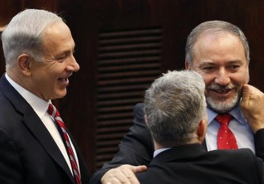 FM Liberman, PM Netanyahu, and Finance Min. Lapid