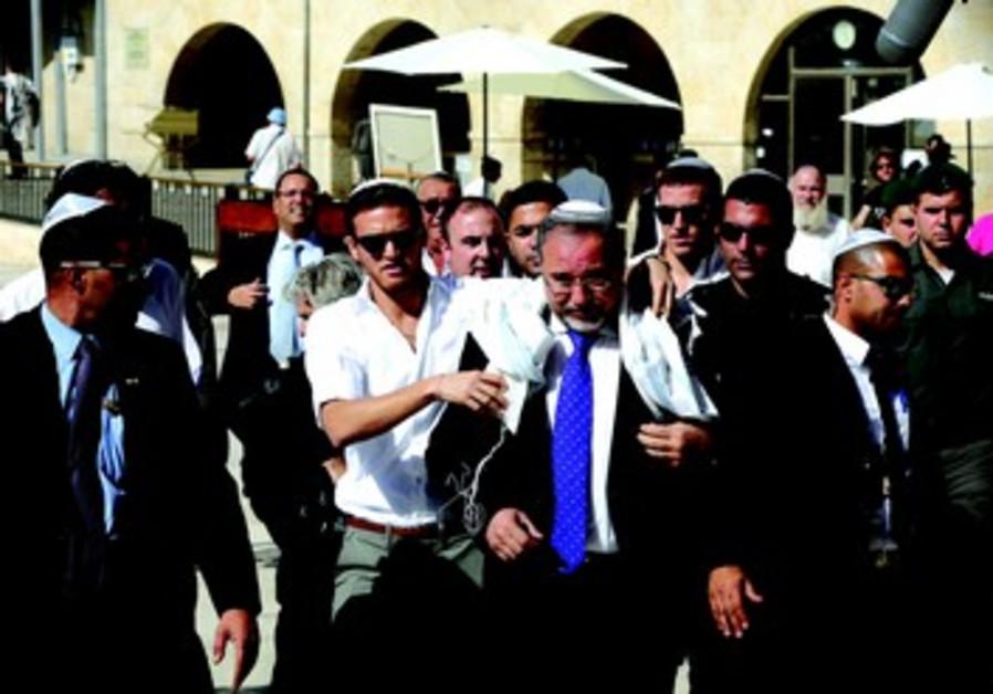 Innocenté, Avigdor Liberman se rend au Kotel pour fêter sa victoire
