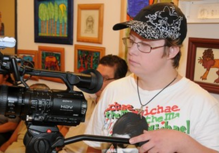 A young filmmaker at work.