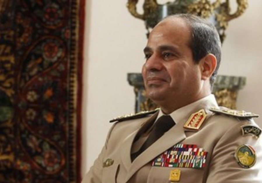 Egypt's Army Chief General Abdel Fattah al-Sisi meeting with Russian delegation in Cairo, Nov 14.