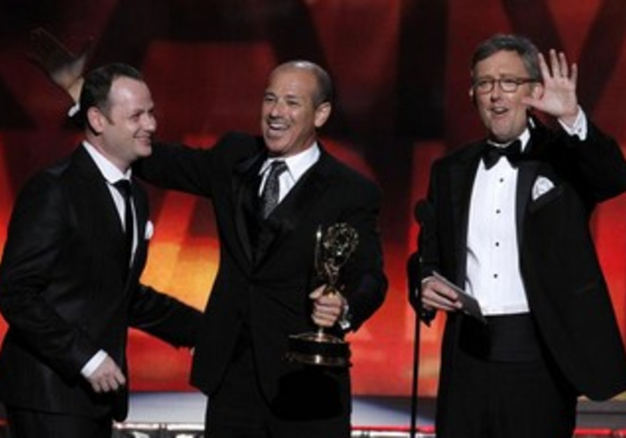 'Hatufim' creator Gideon Raff with 'Homeland' producers Howard Gordon and Alex Gansa.