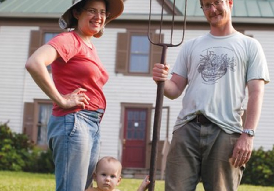 Esther, Aryeh, and Pablo Elliott on their farm in Virginia, as featured in 'Fringes.'