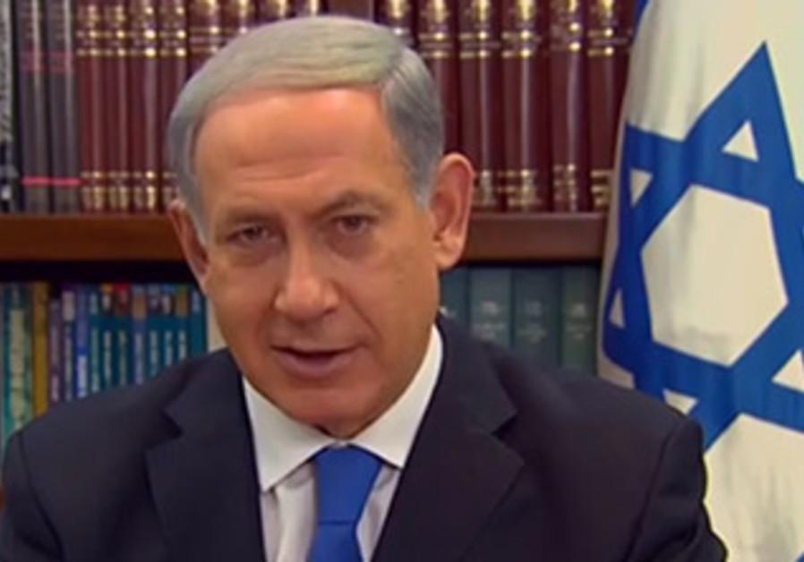 Binyamin Netanyahu talking to CNN from his office in Jerusalem, Nov. 17, 2013.