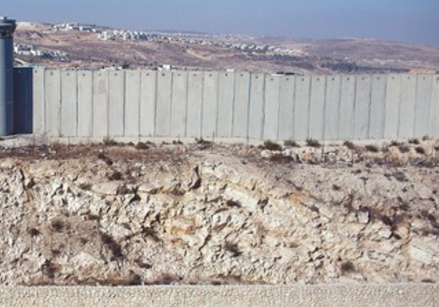SECTION of the security fence north of Jerusalem.