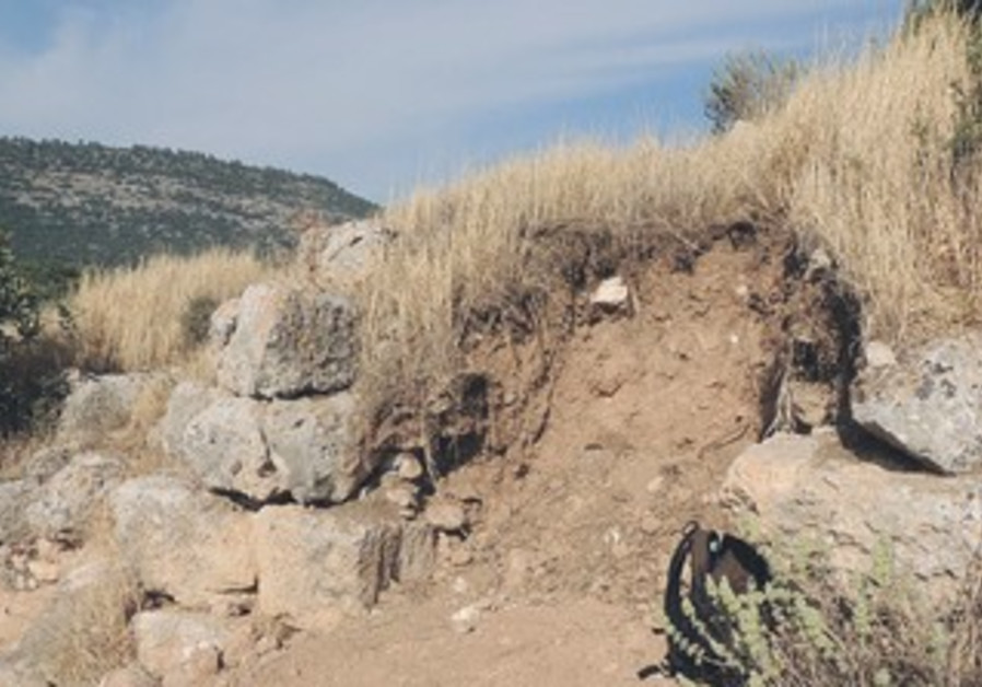 one of the ancient ruins six bandits recently attempted to loot in the Judean Mountains