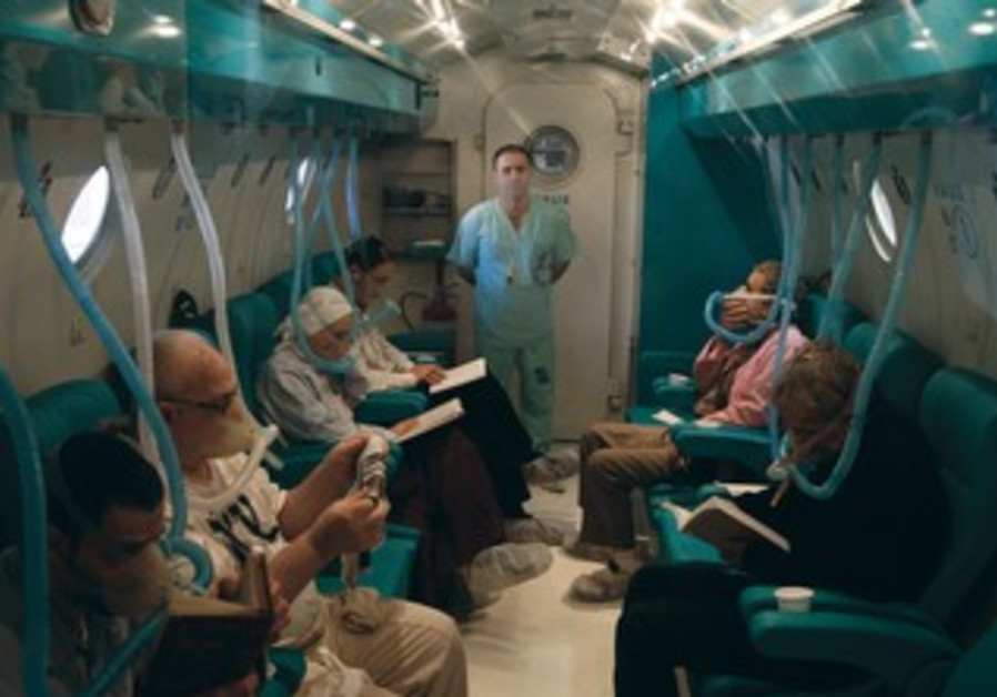 Tzrifin's hyperbaric oxygen chamber