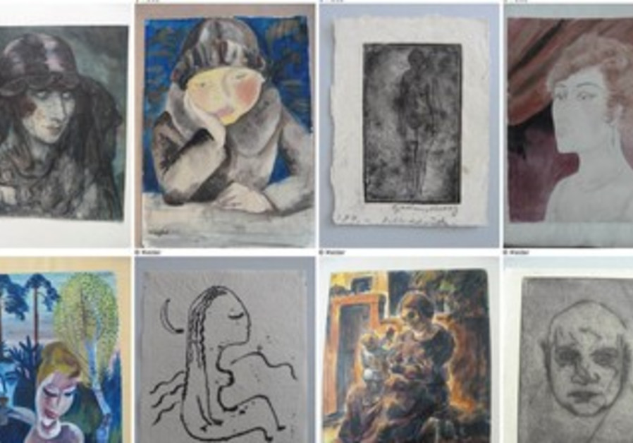 Germany began publishing an online list on Tuesday of works that were discovered in a huge art stash