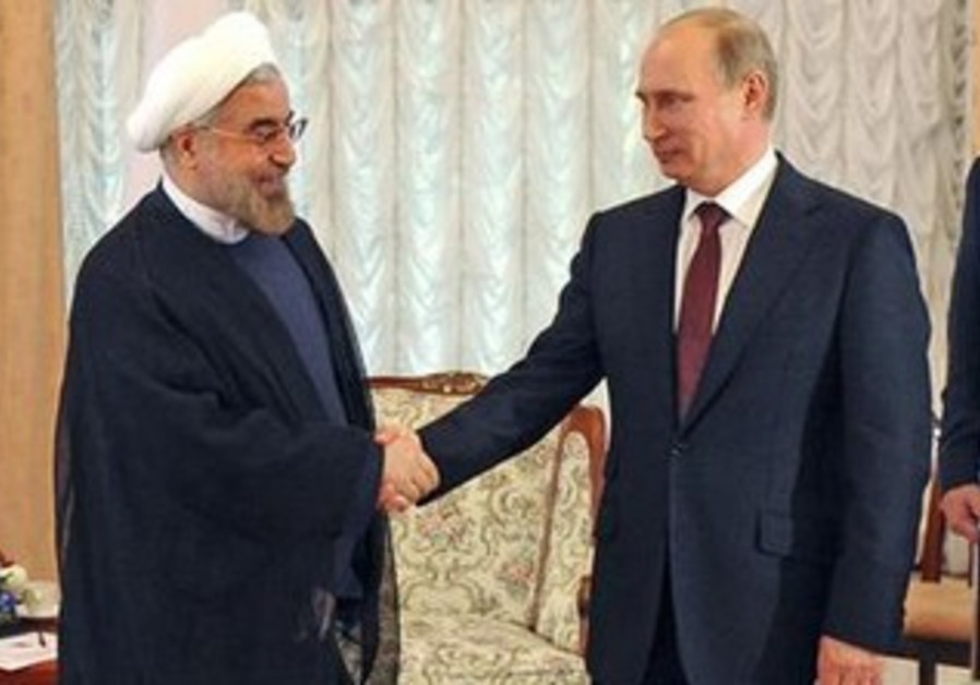 Russian Pres. Putin and Iranian Pres. Rouhani