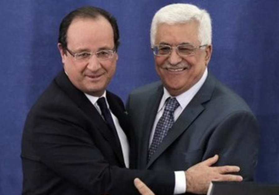 French President Francois Hollande and PA Pres. Abbas