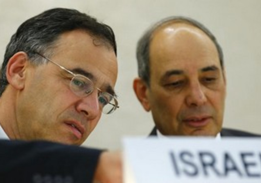 Deputy Attorney General Shai Nitzan (L).