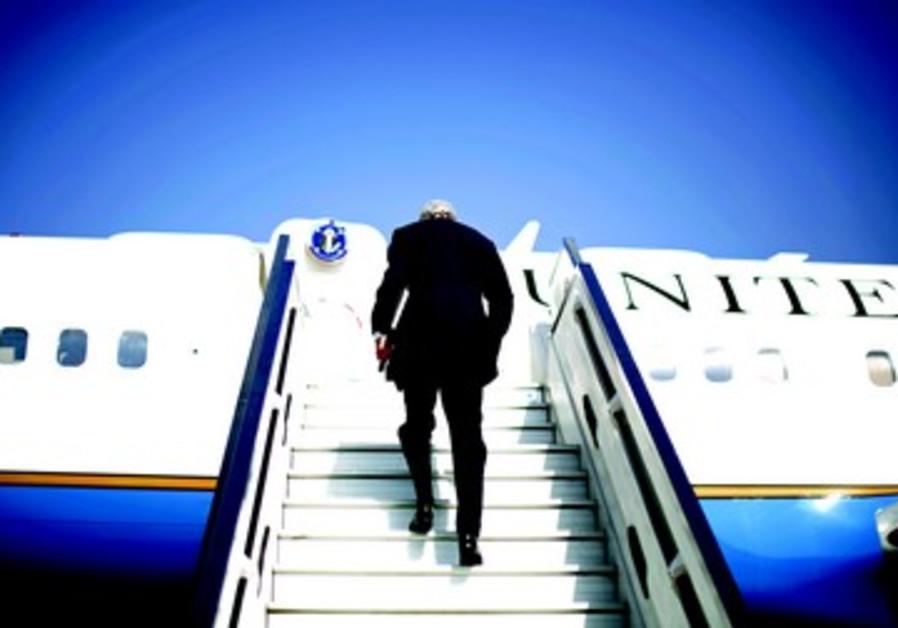 John Kerry au départ de Tel-Aviv, le 8 novembre dernier.