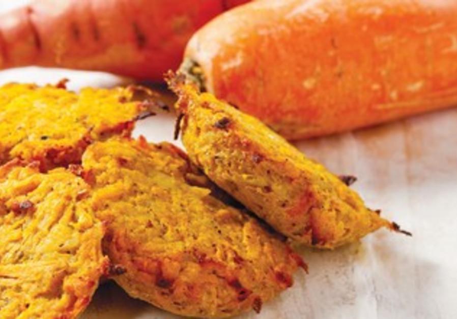 Orange - carrot and sweet potato patties