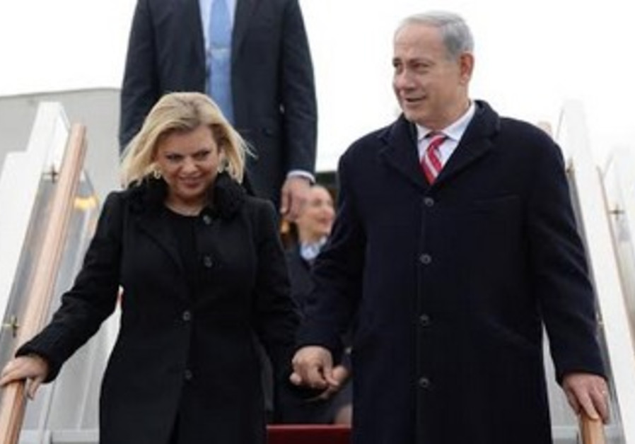 Prime Minister Binyamin Netanyahu and Sara land in Moscow, November 20, 2013
