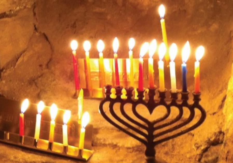 Hanukkiot in the Old City of Jerusalem