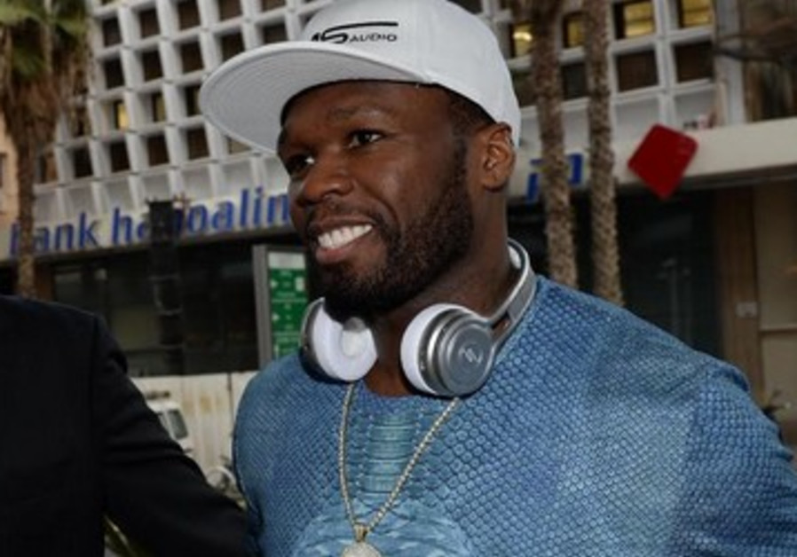 Rapper 50 Cent arrives in Tel Aviv at the Dan Hotel, November 21, 2013.