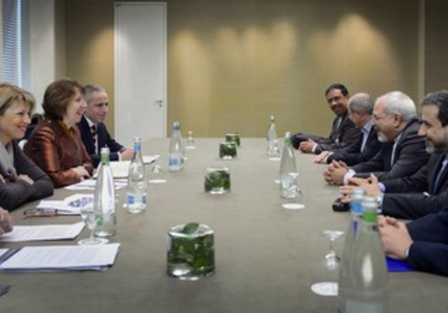 Iran nuclear talks in Geneva, November 22, 2013.