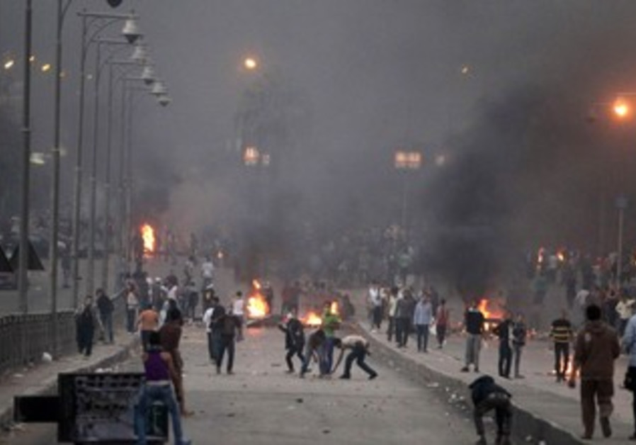 Clash at Nasr City district in Cairo November 22, 2013.