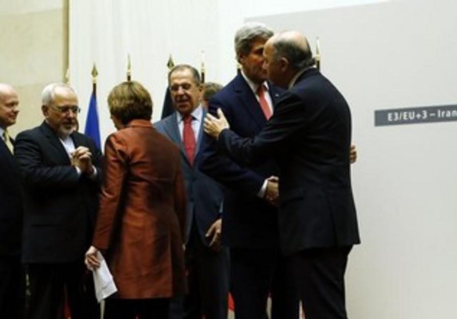 Iran nuclear talks  in Geneva November 24, 2013.
