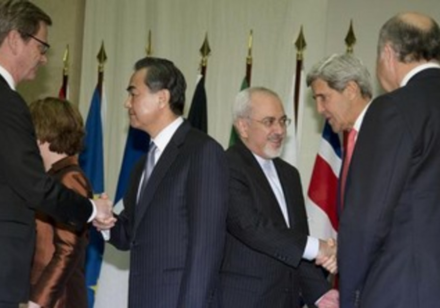 Iran nuclear talks  in Geneva November 24, 2013.