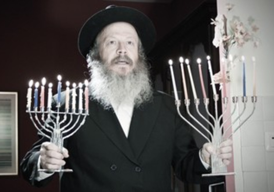 Hassidic comedian Yisrael Campbell in 'Thanksgivukkah:The Movie