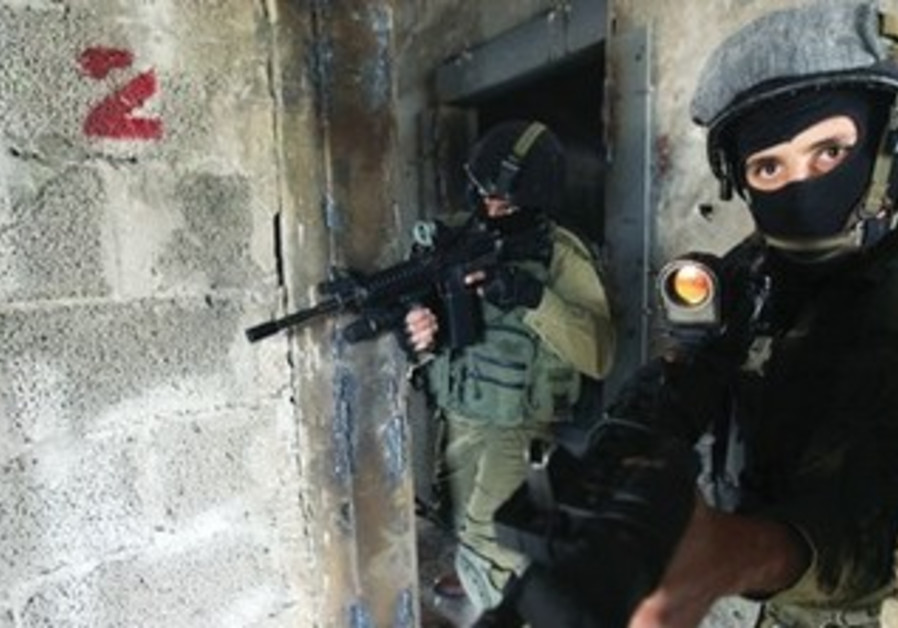 Counter-terrorism soldiers at the IDF's Mitkan Adam base near Modi'in.