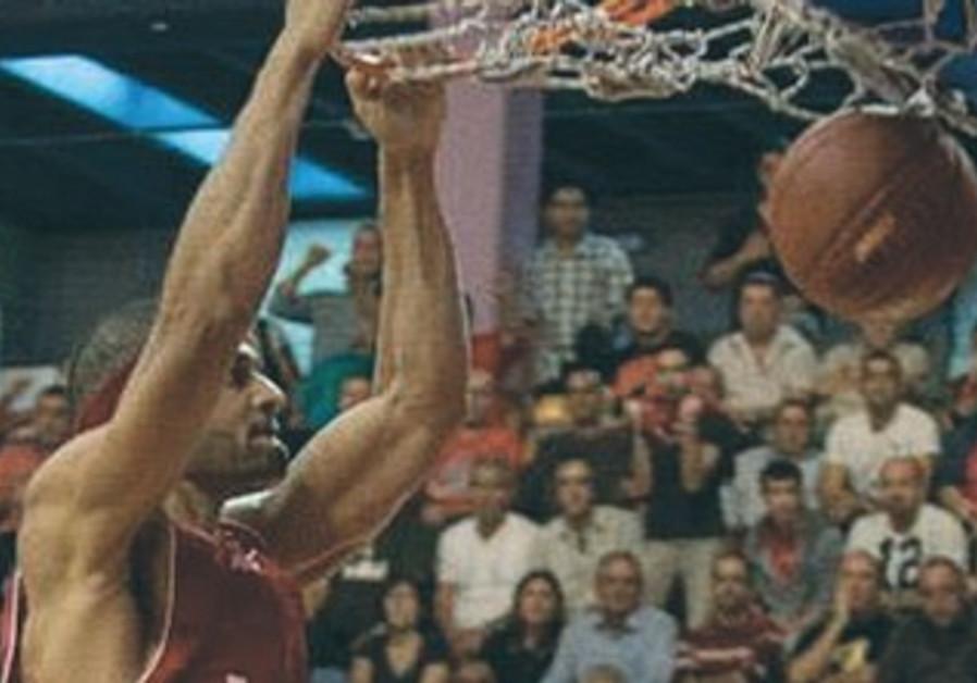 Hapoel Jerusalem's Josh Duncan at Malha Arena