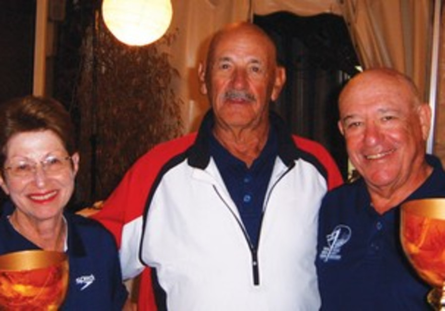 Israel Golf Federation chief Avi Dagan and Cyril Kaufman
