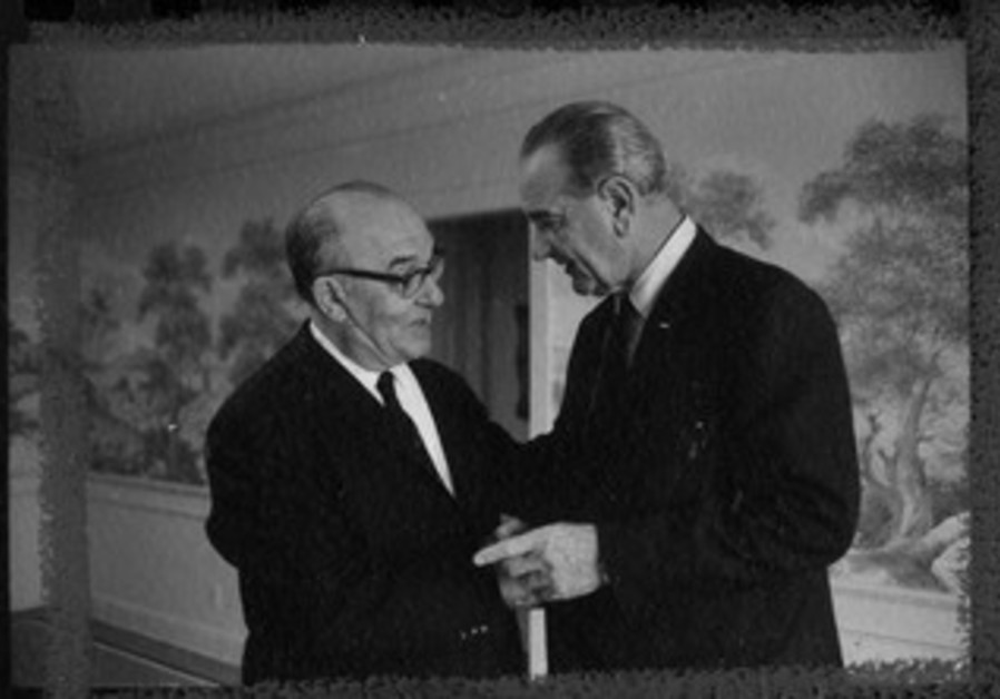 PM Levi Eshkol and President Lyndon B. Johnson