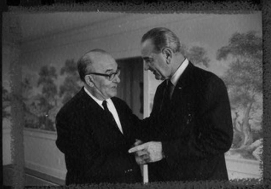 PM Levi Eshkol and President Lyndon B. Johnson