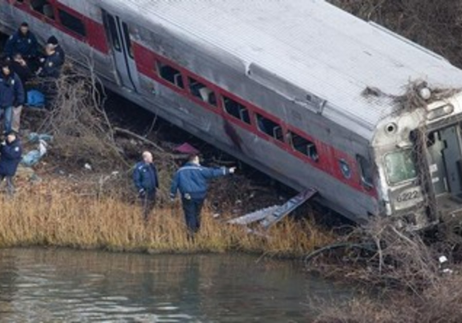 Train accident in New York, December 1, 2013.
