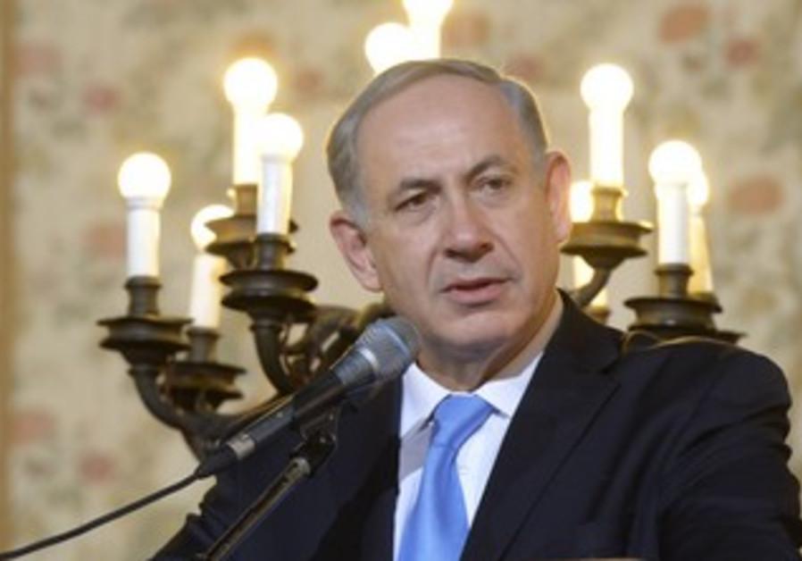 Prime Minister Binyamin Netanyahu in Rome, December 1, 2013.