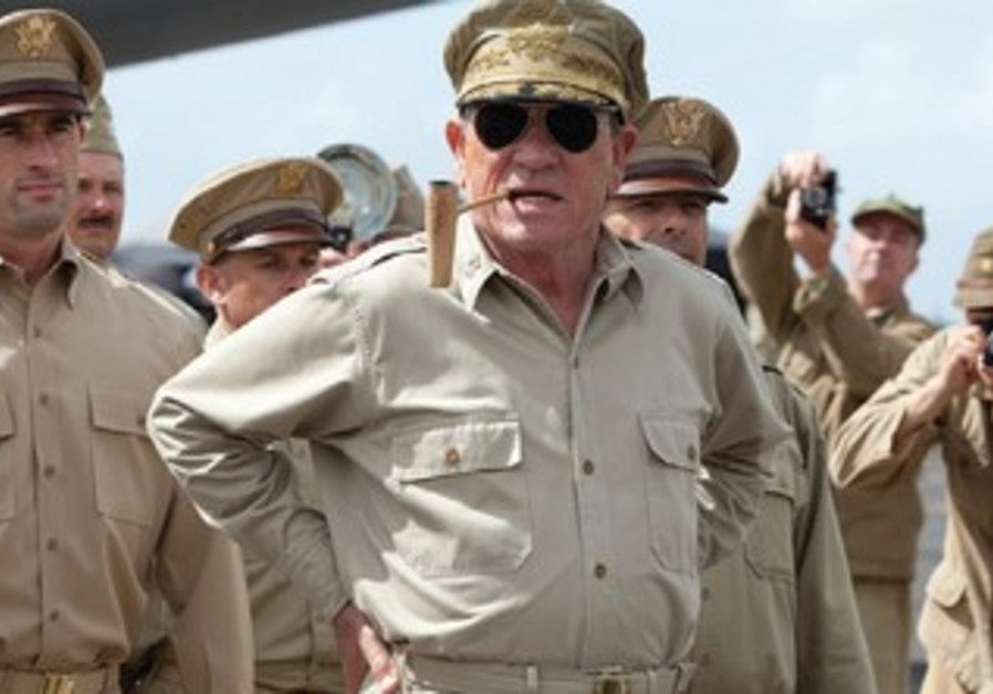 Tommy Lee Jones and Matthew Fox star in lead roles as General MacArthur and General Fellers