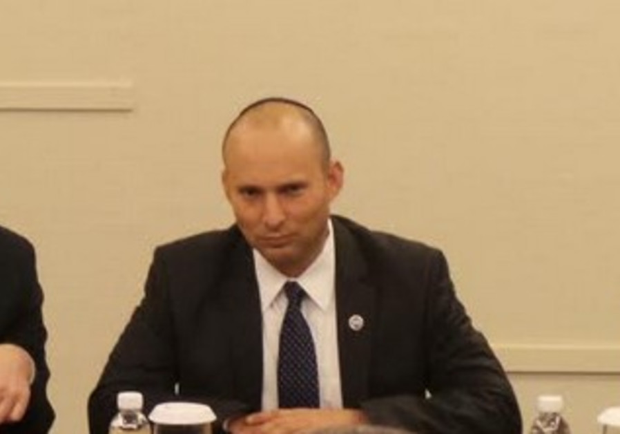 Economy and Trade Minister Naftali Bennett at a World Trade Organization conference in Indonesia.