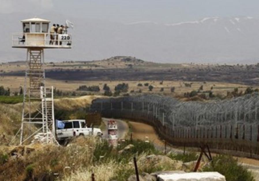 Quneitra border crossing between Israel and Syria