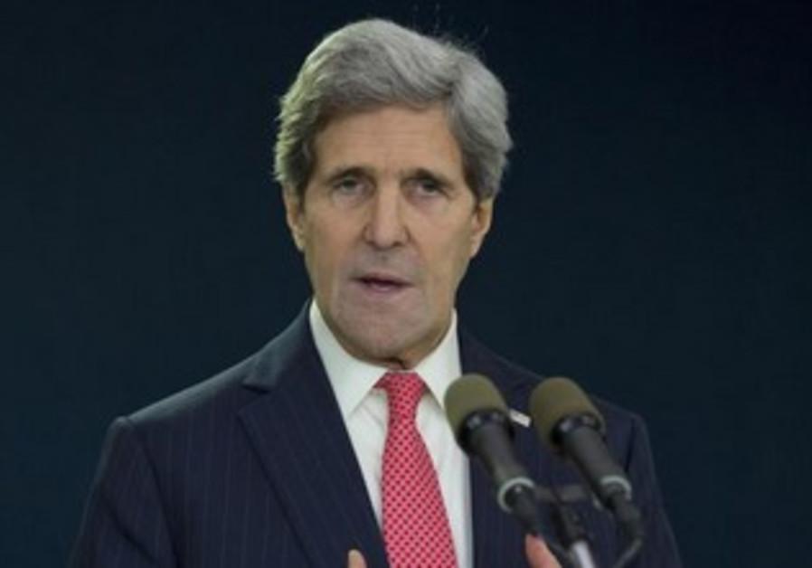 US Secretary of State John Kerry before his departure at Ben Gurion Airport, December 6, 2013.