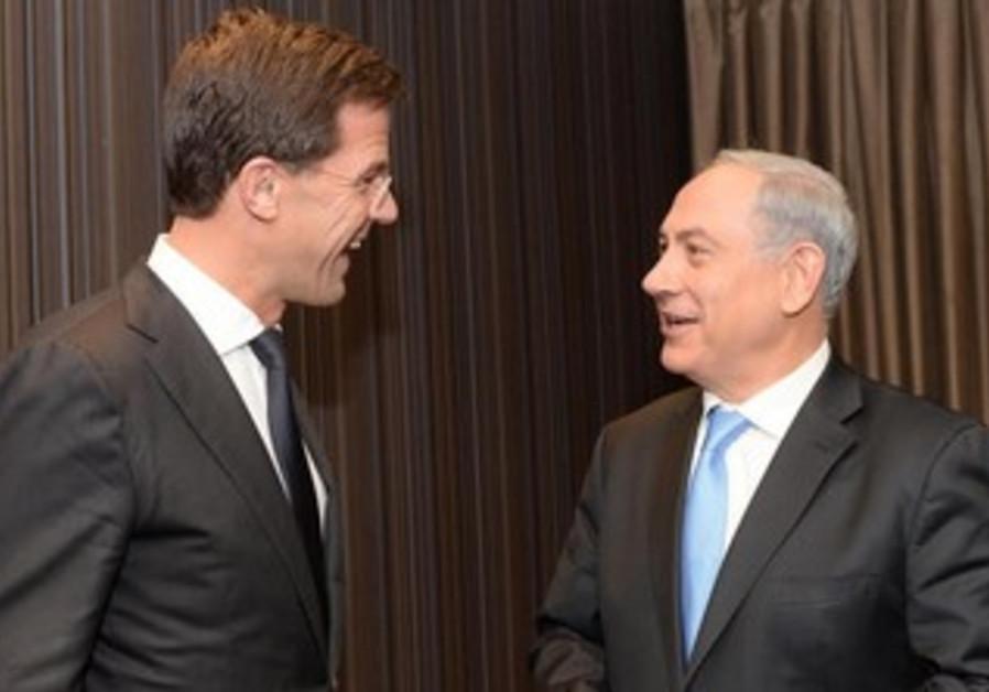 Prime Minister Binyamin Netanyahu meets with Dutch counterpart Mark Rutte, December 8, 2013.