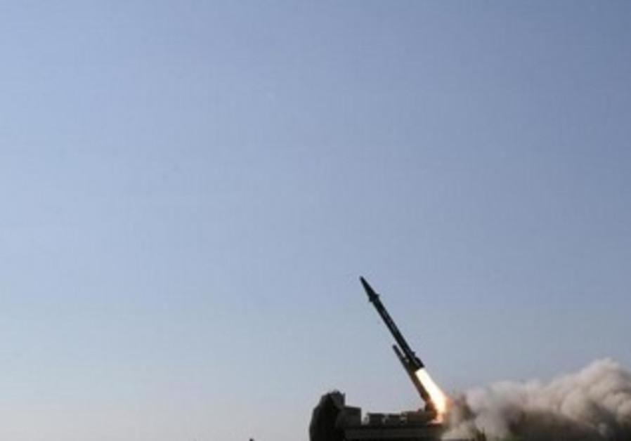 Handout picture shows Iranian supersonic ballistic missile [file]