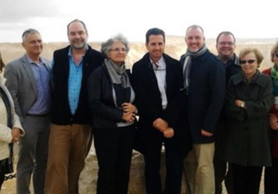 US delegation members at David Ben-Gurion's grave