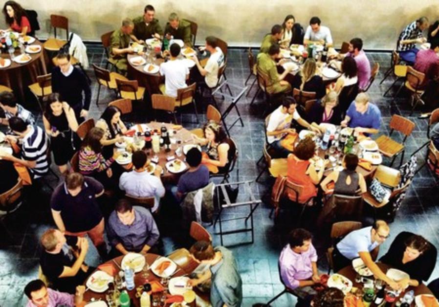 White City Shabbat meal in Tel Aviv