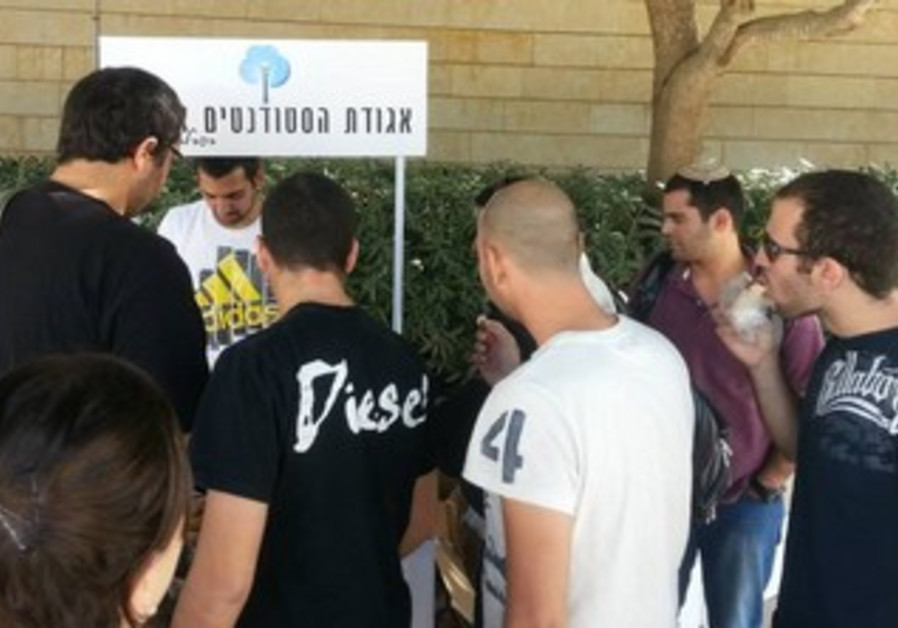 Ariel University student union offers sandwiches and drinks to students.