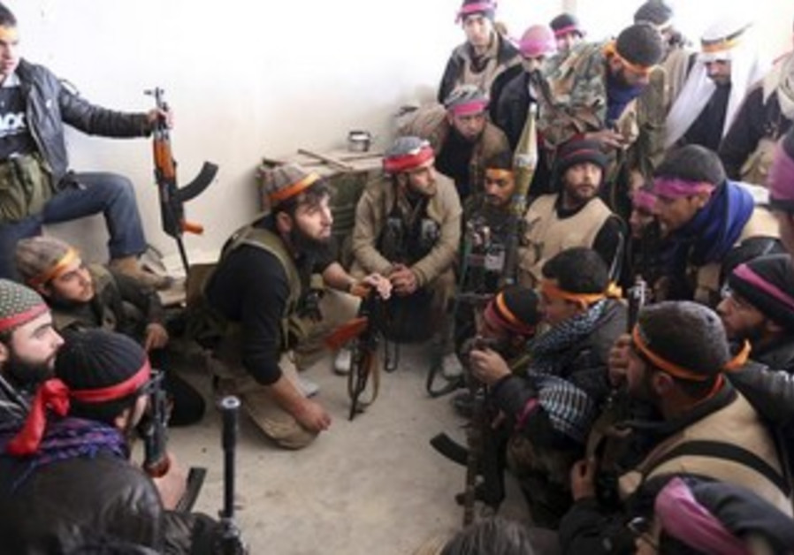 Free Syrian Army fighters.