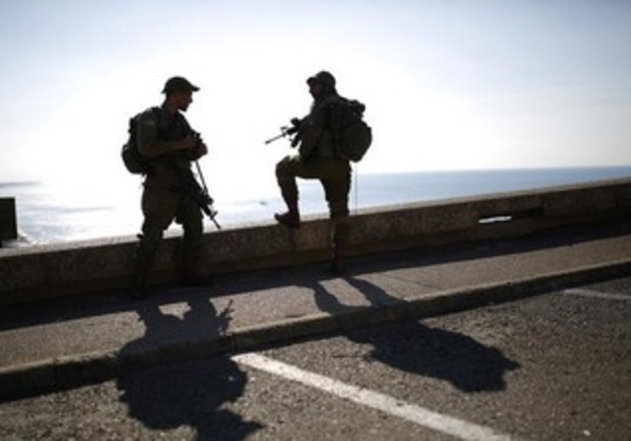 IDF troops on duty near Rosh Hanikra