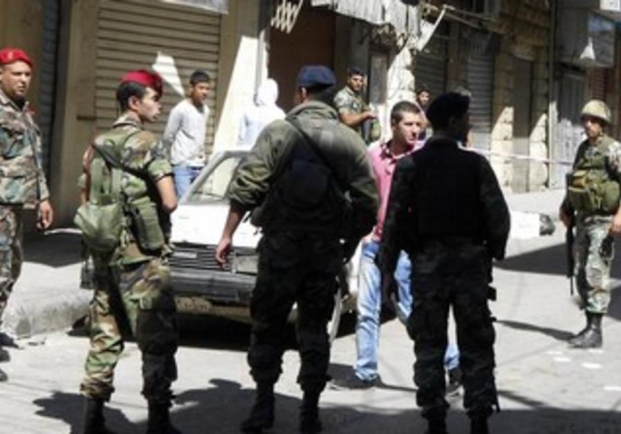 Lebanese soldiers in Baalbek region [file]