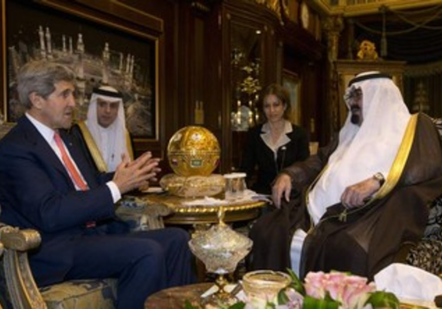 US Secretary of State John Kerry meets with Saudi King Abdullah