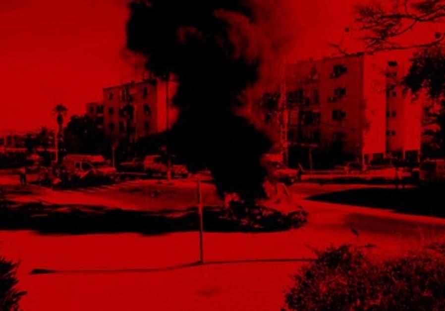Explosion à Ashkelon.
