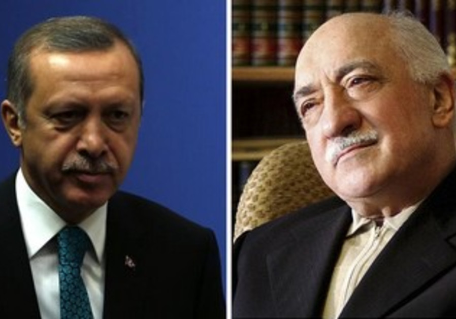 Turkish Prime Minister Tayyip  Erdogan and US-based cleric Fethullah Gulen.